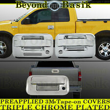 2004-2008 F150 Chrome Door Handles (W/PSK W/KP 2Door) Tailgate Covers Overlays