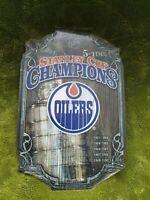 WinCraft Edmonton Oilers Holz Schild Stanley Cup NHL NEU