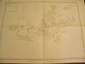 VINTAGE NAUTICAL CHART-ARCTIC OCEAN-BARENTS SEA-ZEMLYA FRANTSA IOSIFA,RARE FIND