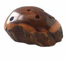 Natural Burl Timber Pen Holder Mid Century Handcrafted Burr Bur Wood Study Desk