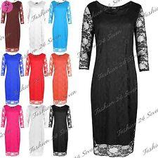 Unbranded Polyester 3/4 Sleeve Dresses for Women