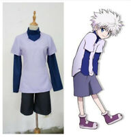Anime Hunter X Hunter Killua Zoldyck Full Set Uniform Cosplay Costume Halloween