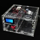 Dual CD Rom Bay Water Cooling Reservoir Tank G1/4 Thermometer Flowmeter Fittings