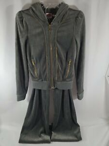 Vintage Juicy Couture Velour Olive Track Suit Full Zip Size Small