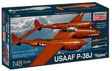 Minicraft Model Kits 1/48 P-38j USAAF With 2 Markings #11683