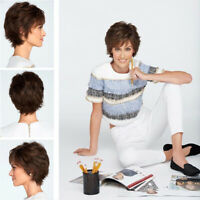 Dark Brown Daily Wig Costume Cosplay Party Wig Natural Short Curly Wigs