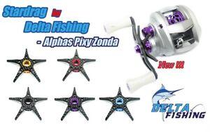 DELTA Carbon Fiber Star Drag Adjustment Daiwa ALPHA・PIXY・ZONDA・Megabass colors