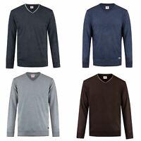 Lee Cooper V Neck Sweater Mens Top Jumper Pullover