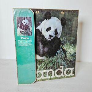 🐼 Vintage Mead 1980s Trapper Keeper Data Center Giant Panda w/Panda Folder 🐼