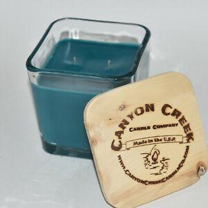 NEW Canyon Creek Candle Company 14oz Cube jar CARIBBEAN SKY scented Handmade!