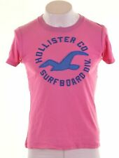 HOLLISTER Mens Graphic T-Shirt Top Small Pink Cotton  AM13