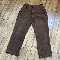 Haband Stag Hill 36L Mens Stretch Waist pants Brown corduroy