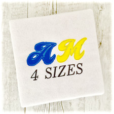 Raggy Applique Fonts Machine Embroidery Designs - 4 Sizes - IMPFCD63