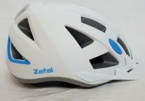 Zefal 5075 Womens sz Large Smart LED adjustable Bike Helmet white 58-61cm