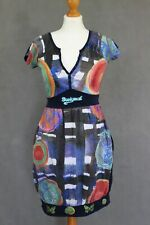 DESIGUAL Ladies Beautiful Vibrant DRESS - Size Small - S
