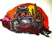 70s VTG Ford Chevy Volkswagen Beetle Bug camping 4x4 dune buggy T-shirt iron-on