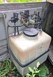 MCI 102DL3 D4505 D4000 COACH BUS PARTS - WINDSHIELD WASHER RESERVOIR WITH PUMP