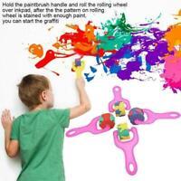 4 teile /satz Zeichnung Graffiti Werkzeug Rad Schwamm Schaum Kinder Pinsel M8E4