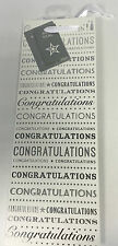 White & Silver Congratulations Bottle Gift Bag 31cm x 12.5cm x 9cm -Any Occasion