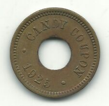 HIGHER GRADE 1925 CANDY COUPON 5 CENTS TOKEN-BOWTIE?-MAY370