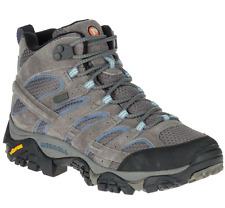 New Merrell Womens Moab 2 Mid Hiking Waterproof Granite Athletic Boots Size 8