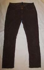EARNEST SEWN DECCA lightweight brown cords corduroy straight leg jeans 27 **