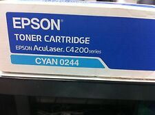 ORIGINALE EPSON S050244 AcuLaser C4200 TONER CIANO 0244 C13S050244 a-Ware