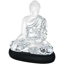 Swarovski Crystal Large Buddha #5099353 Brand New In Box With Base Religious F/S