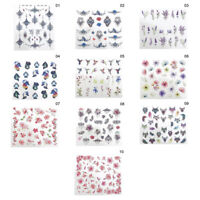 Nail Art Water Sticker Colorful Flower Bird Multi Patterns Nails Design Decals