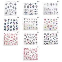 Nail Art Water Sticker Colorful Flower Bird Multi Patterns Nails Design Decals