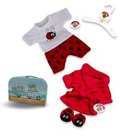 Teddy Bear Clothes fit Build a Bear Red Bug PJ - Dressing Gown - Slippers or Set