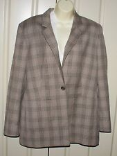 JAEGER checked wool blend jacket size 14