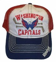 Reebok Washington Capitals Hat Slouch Mesh Adjustable Snapback Cap NHL Headwear