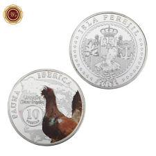 WR 2015 España 10 Pesetas Fauna Lberica Moneda de Plata Tetrao Urogallus Animal