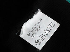 35%Silk65%CottonMixBlkGreenArmStripeL/sKnit EUC