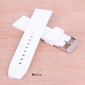 NEW Rubber 16/18/20/22/24/26/28mm Buckle Watch band Wristwatch strap Belt
