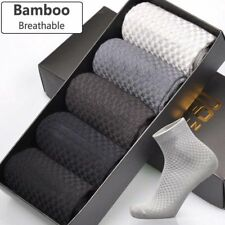 Men Bamboo Fiber Socks Business Anti-Bacterial Deodorant Breathable Sock Gift