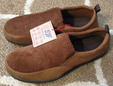Mens Small 7/8 Dearfoams Chestnut Brown Memory Foam Slippers House Shoes New