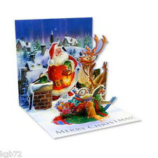 3D Rooftop Santa Pop Up Card Christmas by Up With Paper Treasures #1018
