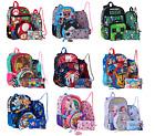 Boys Girls Backpack 5 Pcs Set,Lol,Spider-man,Jojo Minecraft Paw Patrol,Frozen