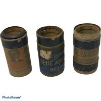 Lot of 3 Edison Cylinder Records Phonograph Blue Amberol 1742 3451 3449