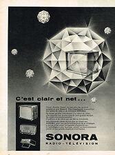 PUBLICITE ADVERTISING 045  1959  SONORA  radio téléviseur