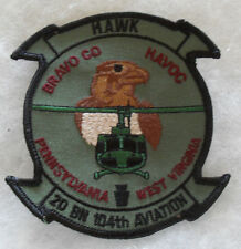"GREAT PA NG AVIA UNIT OBSOLETE FOR 2ND BATT 104TH AVIA ""HAWK BRAVO CO HAVOC"""