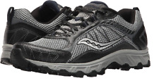 MENS SAUCONY GRID ESCAPE TR3 BLACK GRAY BLUE RUNNING SHOES SIZE 10M Q279
