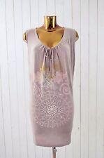 THE PEOPLE OF THE LABYRINTHS Damen Kleid Jersey Ärmellos Mauve Print Gr.S