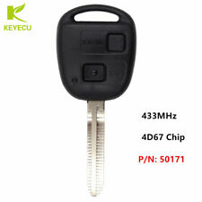 New Remote Key Fob 2Button 433MHz 4D67 Chip for 2003-2005 Toyota RAV4 P/N:50171