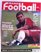 France Football du 28/10/1997; Metz lache prise/ La Corée du sud au Paradis/ Dop