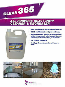 Clean 365-Floor Degreaser Commercial Industrial Catering Takeaway Shops Kitchens