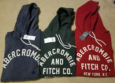 NWT. Abercrombie & Fitch Applique Logo Hoodie 4 colors Available M or Large