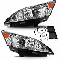 Custom Projector Chrome LED Headlights with DRL Dual Beam for 10-12 Lexus ES350